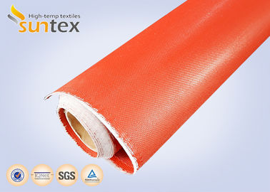 1mm Thick Both Side Silicone Rubber Coated Fabric Expansion Joint Material For Heat / Cold Insulation