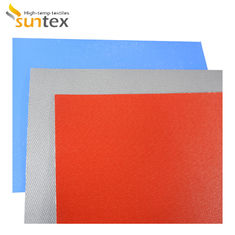 Fireproof E Glass 480g/Sqm 0.4mm Silicone Coated Fiberglass Fabric