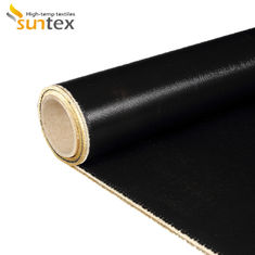 Fire Retardant Twill Woven 0.4mm Silicone Rubber Coated Fiberglass Cloth